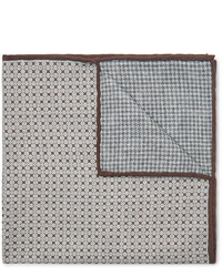 Pochette de costume imprimée grise Brunello Cucinelli