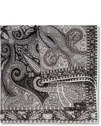 Pochette de costume imprimée grise Etro