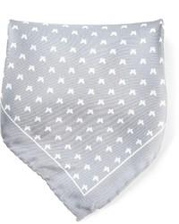 Pochette de costume imprimée grise fe-fe