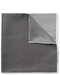 Pochette de costume imprimée grise Lanvin