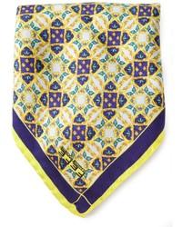 Pochette de costume imprimée jaune fe-fe