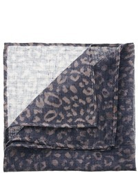 Pochette de costume imprimée léopard marron Asos
