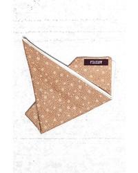 Pochette de costume imprimée marron clair