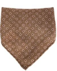 Pochette de costume imprimée marron foncé Brunello Cucinelli