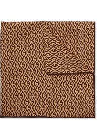 Pochette de costume imprimée marron Gucci