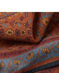 Pochette de costume imprimée marron