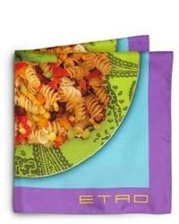 Pochette de costume imprimée multicolore