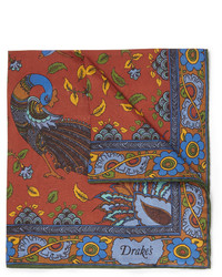 Pochette de costume imprimée multicolore Drakes