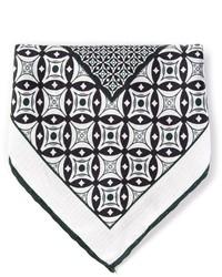 Pochette de costume imprimée noire et blanche Canali