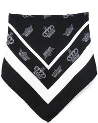 Pochette de costume imprimée noire et blanche Dolce & Gabbana