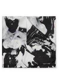 Pochette de costume imprimée noire et blanche Tom Ford