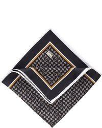 Pochette de costume imprimée noire
