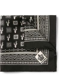 Pochette de costume imprimée noire Dolce & Gabbana