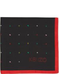Pochette de costume imprimée noire Kenzo