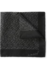 Pochette de costume imprimée noire Lanvin