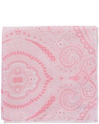 Pochette de costume imprimée rose