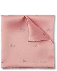 Pochette de costume imprimée rose Paul Smith