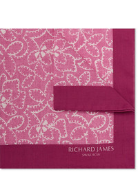 Pochette de costume imprimée rose Richard James