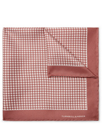 Pochette de costume imprimée rose Turnbull & Asser