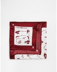 Pochette de costume imprimée rouge et blanc