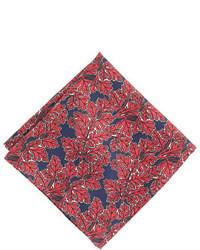 Pochette de costume imprimée rouge