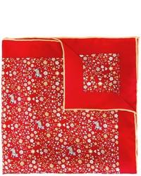 Pochette de costume imprimée rouge Salvatore Ferragamo