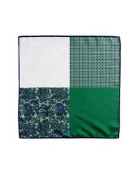 Pochette de costume imprimée vert foncé
