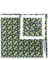 Pochette de costume imprimée vert foncé fe-fe