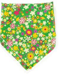 Pochette de costume imprimée verte fe-fe