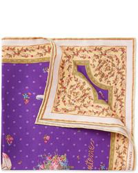 Pochette de costume imprimée violette