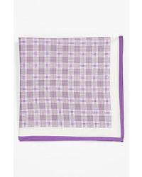 Pochette de costume violet clair