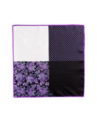 Pochette de costume violette