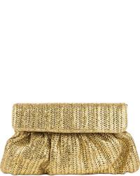 Pochette de paille dorée