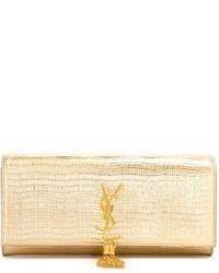 Pochette dorée Saint Laurent