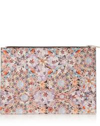 Pochette en cuir à fleurs rose Tabitha Simmons