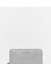 Pochette en cuir argentée Valentino by Mario Valentino