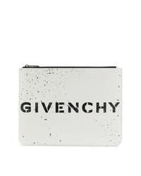 Pochette en cuir blanche et noire Givenchy