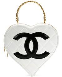 Pochette en cuir blanche Chanel