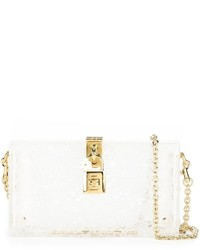 Pochette en cuir blanche Dolce & Gabbana