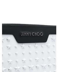 Pochette en cuir blanche Jimmy Choo