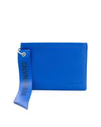 Pochette en cuir bleue Calvin Klein Jeans