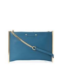 Pochette en cuir bleue Chloé
