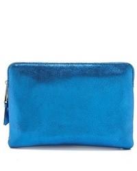 Pochette en cuir bleue Inge Christopher