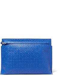 Pochette en cuir bleue Loewe