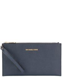 Pochette en cuir bleue MICHAEL Michael Kors