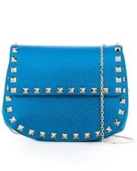 Pochette en cuir bleue Valentino Garavani