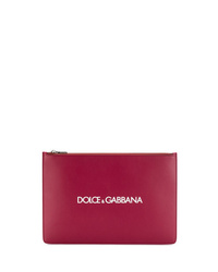 Pochette en cuir bordeaux Dolce & Gabbana