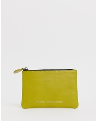Pochette en cuir chartreuse French Connection