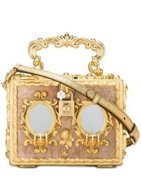 Pochette en cuir dorée Dolce & Gabbana
