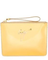 Pochette en cuir dorée Giuseppe Zanotti Design